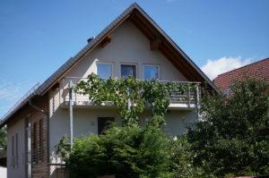 Außenansicht Gebäude mit den Ferienwohnungen